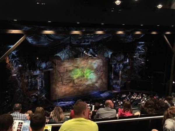 Gershwin Theatre, secção: Rear Mezzanine, fila: G, lugar: 15