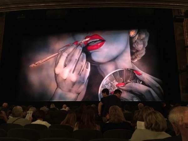 Nederlander Theatre, secção: Orchestra C, fila: M, lugar: 103