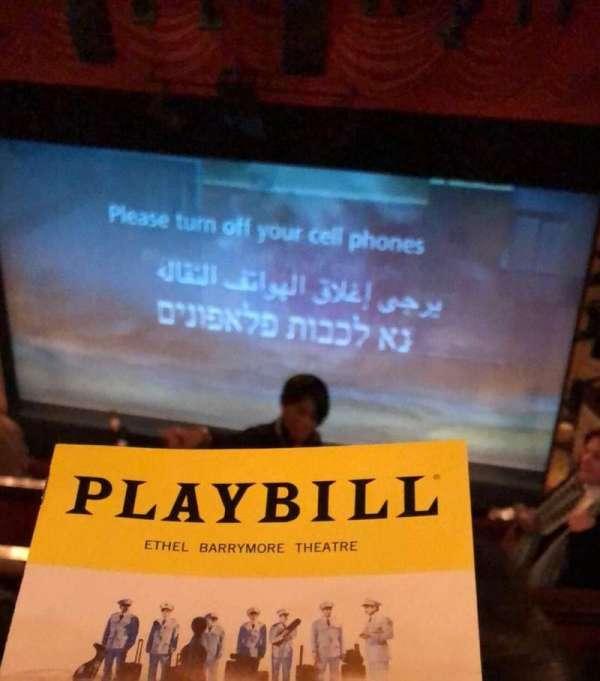 Ethel Barrymore Theatre, secção: Rear Mezz, fila: D, lugar: 2
