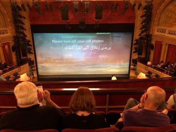 Ethel Barrymore Theatre, secção: Rear Mezz, fila: D, lugar: 108