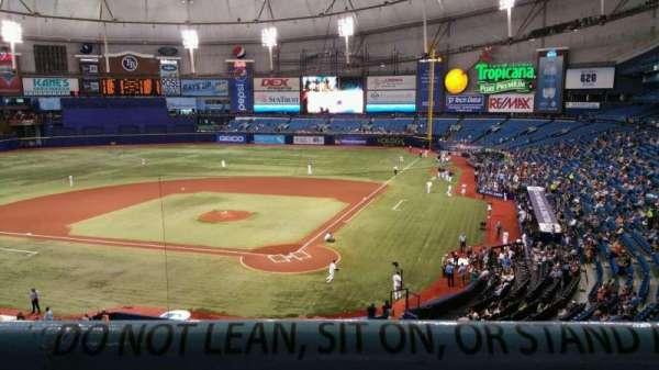 Tropicana Field, secção: 203, fila: A, lugar: 6