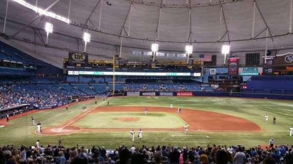 Tropicana Field, secção: Rays Club 114, fila: RR, lugar: 4