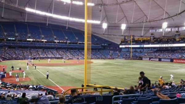 Tropicana Field, secção: 138, fila: jj, lugar: 20