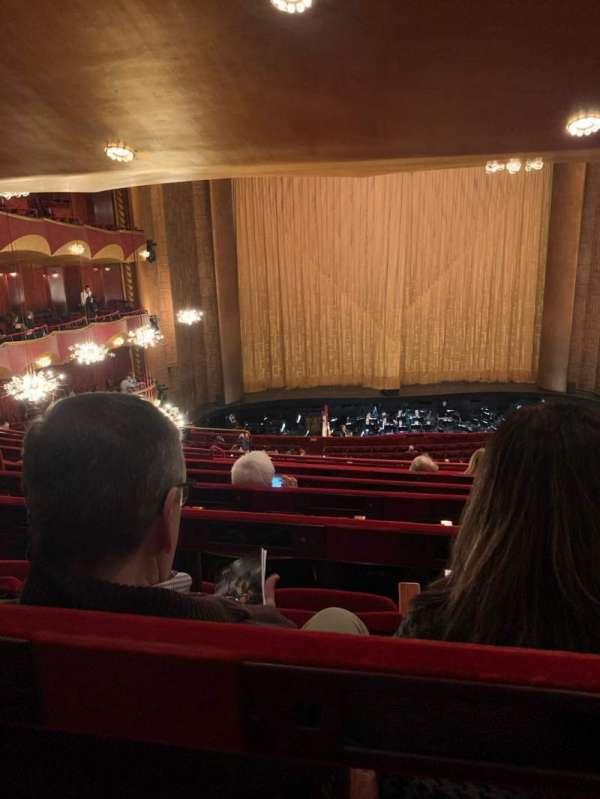 Metropolitan Opera House - Lincoln Center, secção: Grand Tier, fila: G, lugar: 119