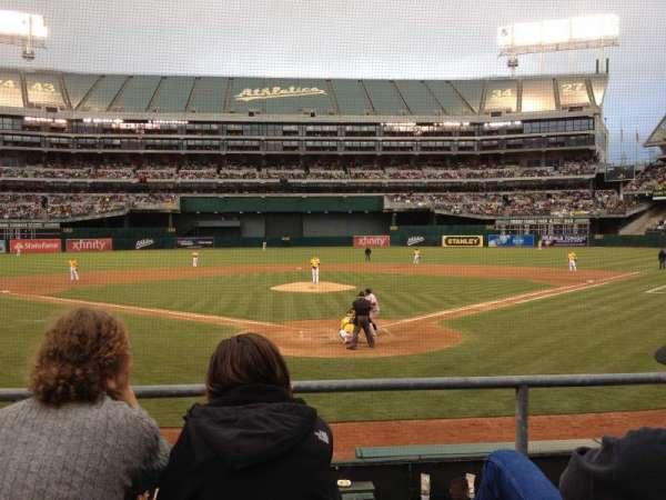 Oakland Coliseum, secção: MVP Box 117, fila: 15, lugar: 13