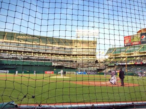 Oakland Coliseum, secção: Diamond Level, fila: A, lugar: 37
