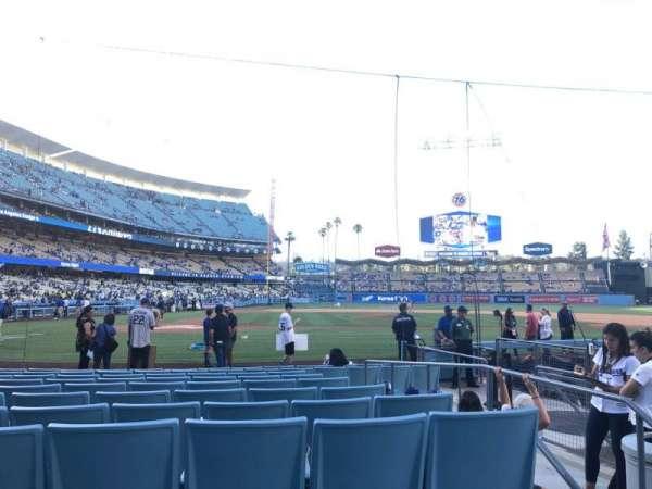 Dodger Stadium, secção: 12fd, fila: A, lugar: 3