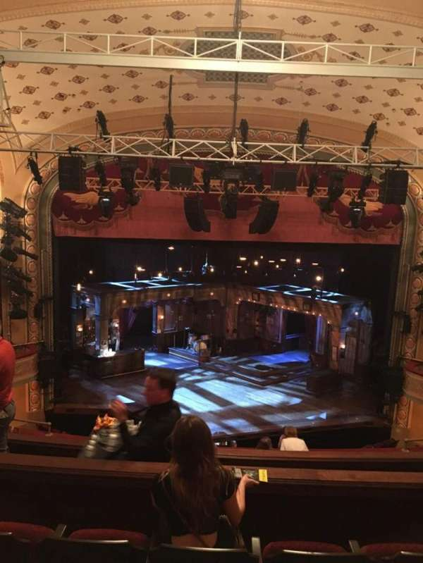 Bernard B. Jacobs Theatre, secção: Mezz, fila: H, lugar: 108