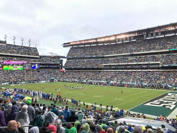 Lincoln Financial Field, secção: 125, fila: 33, lugar: 22