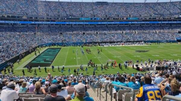 Bank of America Stadium, secção: 319, fila: 14, lugar: 1