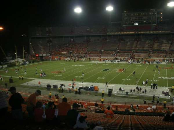 Miami Orange Bowl, secção: E, fila: 51, lugar: 14