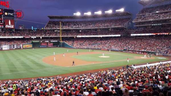 Nationals Park, secção: 113, fila: UU, lugar: 1