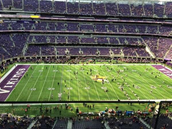 U.S. Bank Stadium, secção: 313, fila: 1, lugar: 17