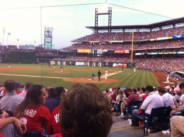 Citizens Bank Park, secção: C, fila: 15