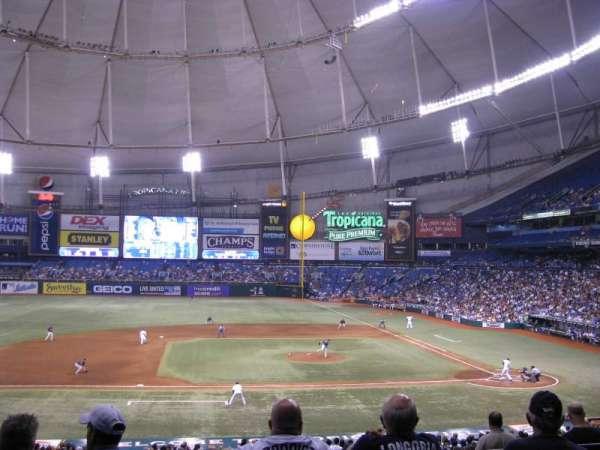 Tropicana Field, secção: 115, fila: PP, lugar: 4
