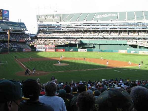 Oakland Coliseum, secção: 115, fila: 28, lugar: 9