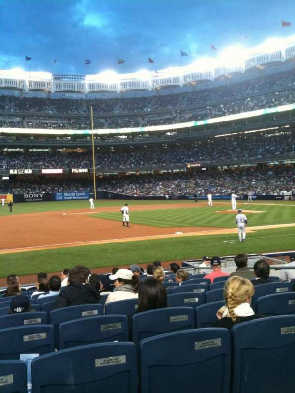 Yankee Stadium, secção: 126, fila: 12, lugar: 11