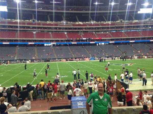 NRG Stadium, secção: 109, fila: JJ, lugar: 1