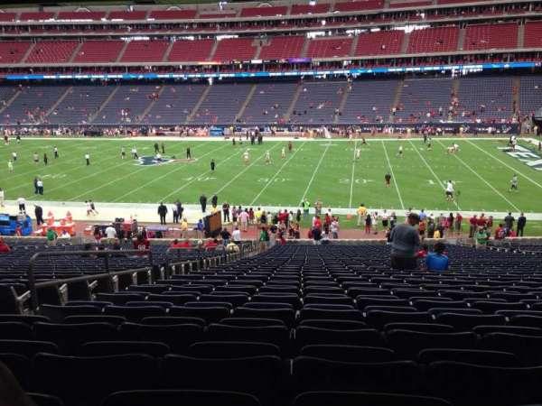 NRG Stadium, secção: 104, fila: J, lugar: 5