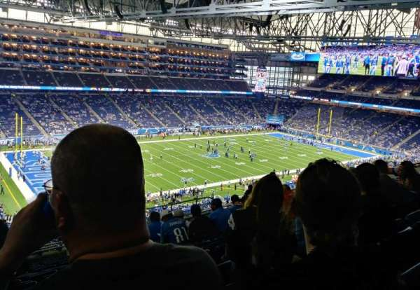 Ford Field, secção: 326, fila: 13, lugar: 10