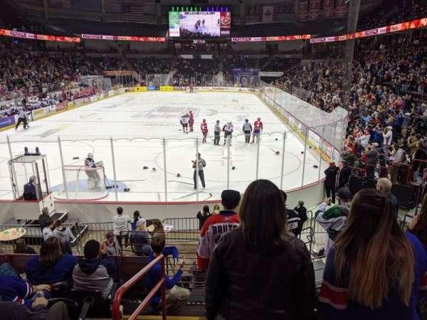 Spokane Arena, secção: 123, fila: P, lugar: 17