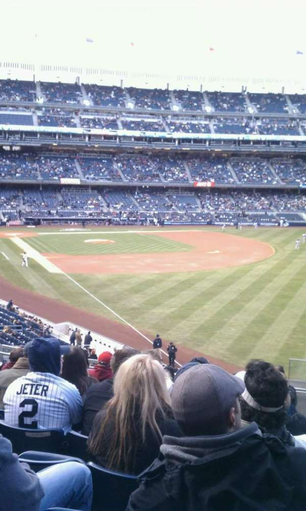 Yankee Stadium, secção: 209, fila: 10, lugar: 1