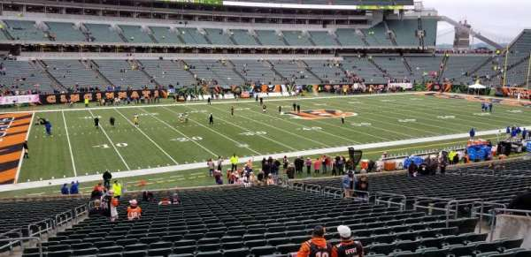 Paul Brown Stadium, secção: 114, fila: 27, lugar: 13