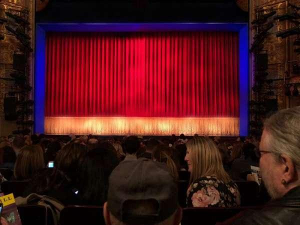 Longacre Theatre, secção: Orchestra C, fila: O, lugar: 107