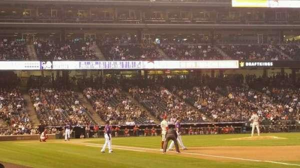 Coors Field, secção: 117, fila: 4, lugar: 12