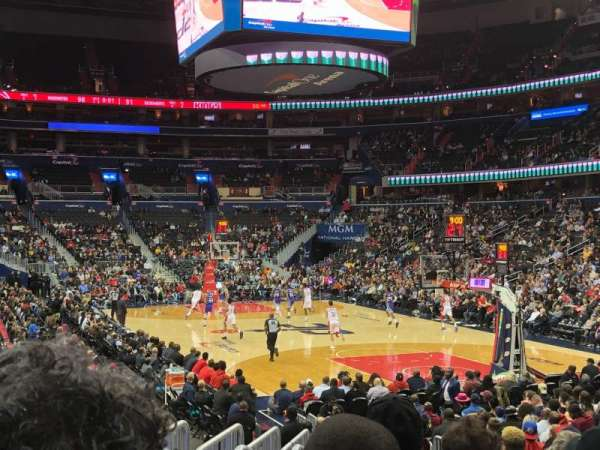 Capital One Arena, secção: 104, fila: N, lugar: 5