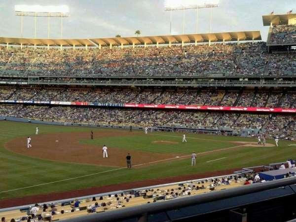 Dodger Stadium, secção: 151LG, fila: B, lugar: 2