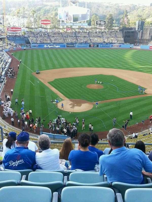 Dodger Stadium, secção: 4RS, fila: G, lugar: 5