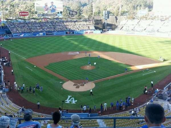 Dodger Stadium, secção: 2RS, fila: F, lugar: 9