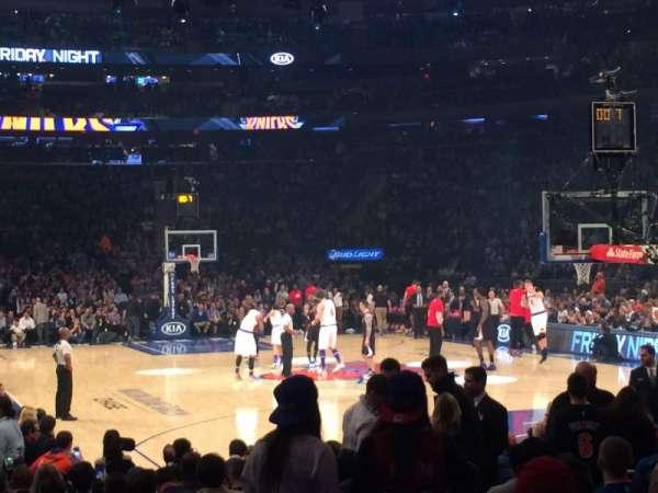 Madison Square Garden, secção: 1, fila: 14, lugar: 8