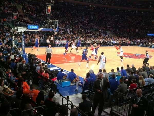 Madison Square Garden, secção: 105, fila: 1, lugar: 12