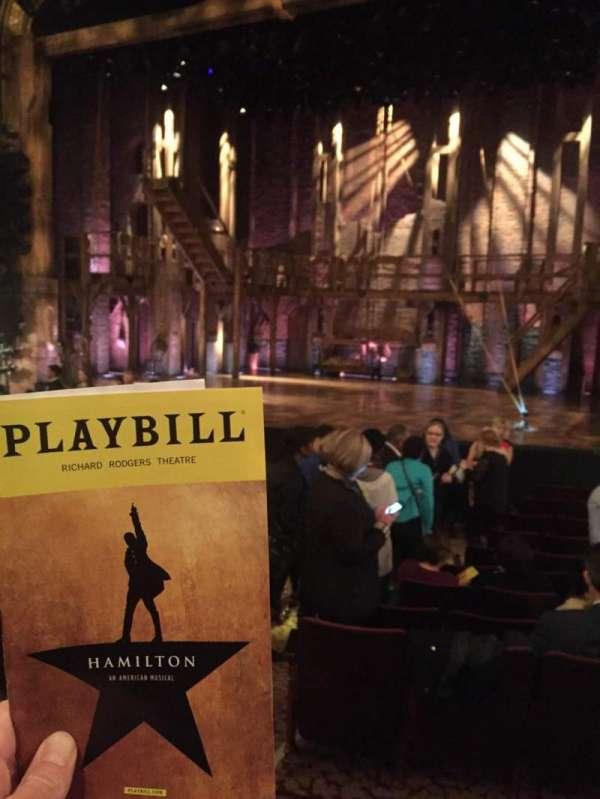 Richard Rodgers Theatre, secção: Orchestra R, fila: M, lugar: 8