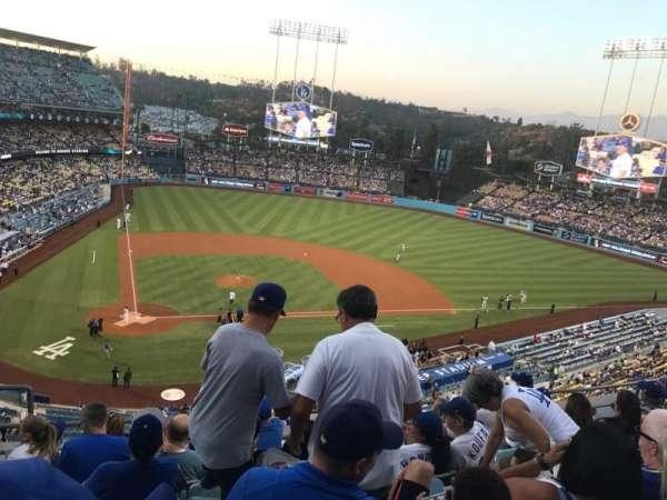 Dodger Stadium, secção: 8Rs, fila: G, lugar: 3