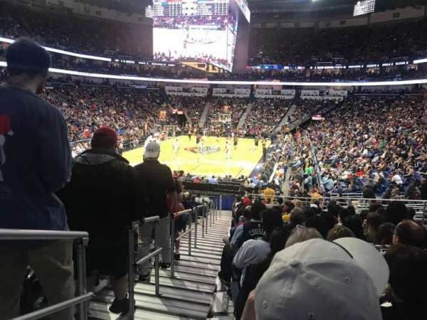 Smoothie King Center, secção: 117, fila: 22, lugar: 17