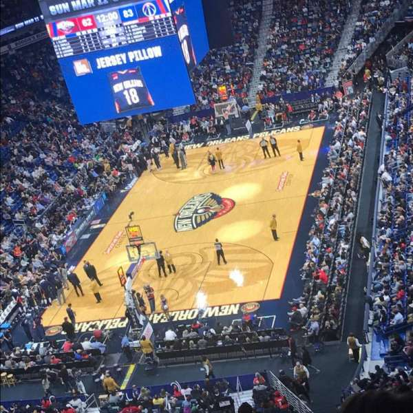 Smoothie King Center, secção: 306, fila: 16, lugar: 11