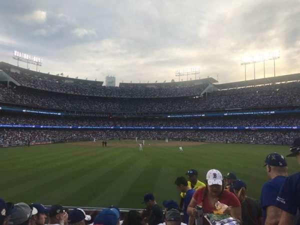 Dodger Stadium, secção: 312, fila: F, lugar: 18