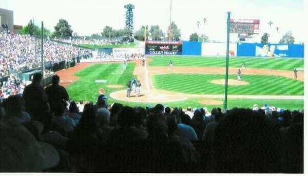 Cashman Field, secção: 15, fila: 12