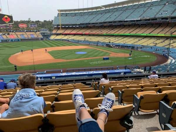 Dodger Stadium, secção: 135LG, fila: K, lugar: 1