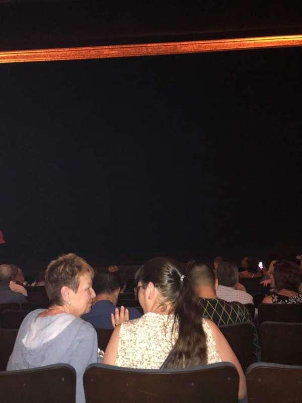Ambassador Theatre, secção: Orchestra C, fila: G, lugar: 107