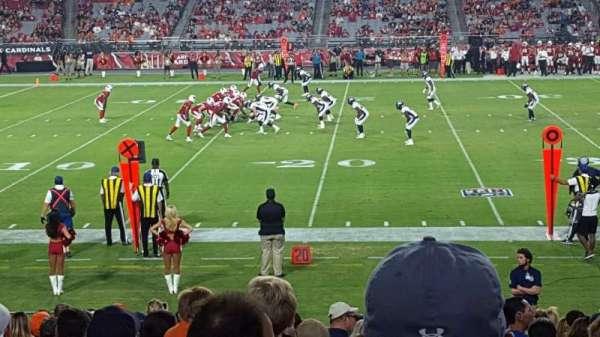 State Farm Stadium, secção: 132, fila: 19, lugar: 11