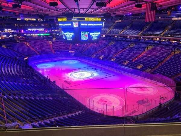 Madison Square Garden, secção: 414, fila: 2, lugar: 2