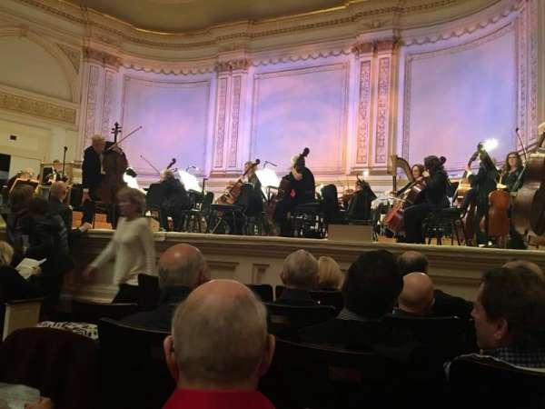 Carnegie Hall, secção: Parquet R, fila: E, lugar: 1O