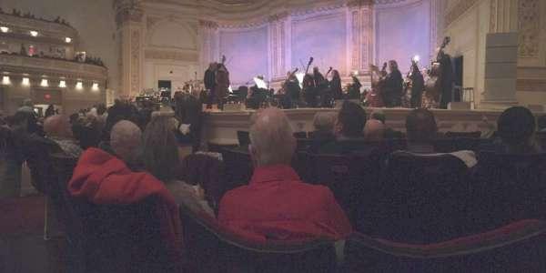 Carnegie Hall, secção: Parquet R, fila: E, lugar: 10