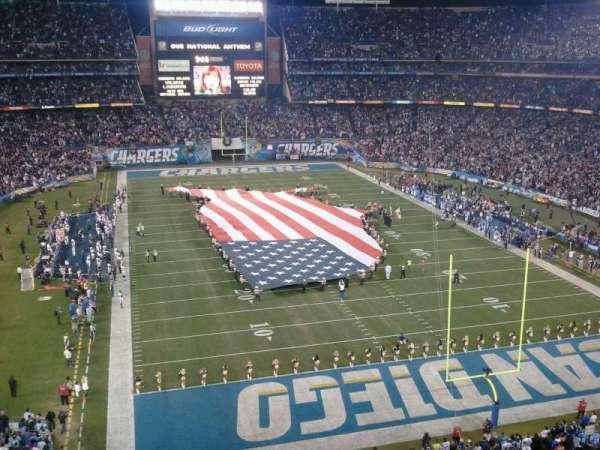 San Diego Stadium, secção: LV18, fila: 1
