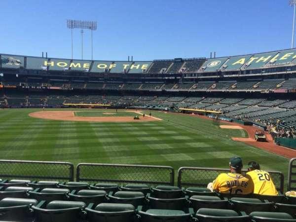 Oakland Coliseum, secção: 135, fila: 33, lugar: 5