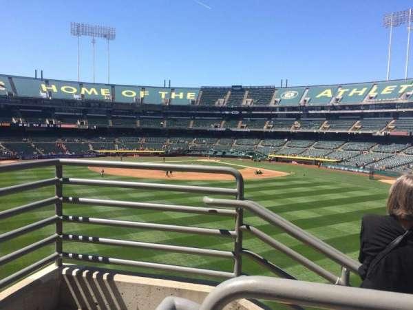 Oakland Coliseum, secção: 139, fila: 40, lugar: 6